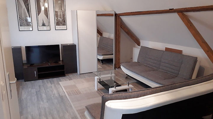 1 room attic apartment in Dietzenbach, furnished